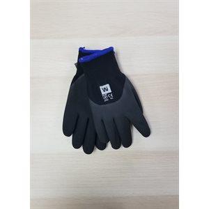 Gant d'Hiver en Nylon Noir doublé de Mousse de Latex Noir / dz