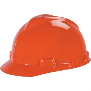 Casque de sécurité Orange MSA V-gard / unité FAS-TRAC(S).