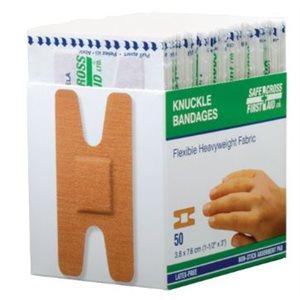 Bandages adhésifs en plastique ¾'' x 3'' bte / 100 #03041 (S)