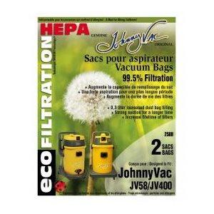 Sacs microfiltre Hepa 258H pour JV400 et JV58 pqt / 3