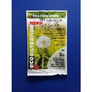 Sacs allergènes 3055H pour aspirateur Kenmore 3 / pqt