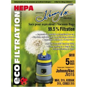 Sacs microfiltre Hepa 581H pour aspirateur JV315 pqt / 5 (J)
