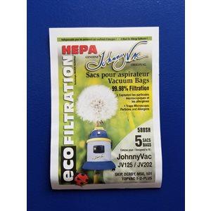Sacs microfiltre Hepa 580H pour aspirateur JV125 / JV202 pqt / 5