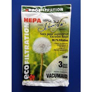 Sacs microfiltre Hepa 595H pour aspirateur DL200 pqt / 3